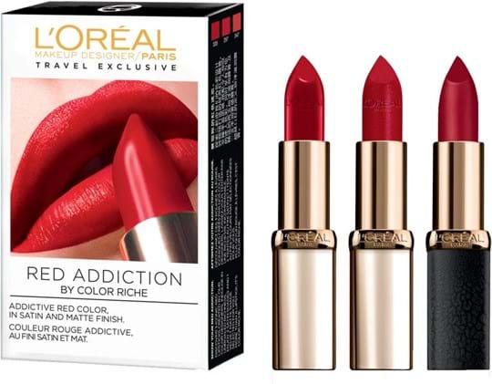 L'Oréal Paris Color Riche Red Addiction-læbestiftsæt