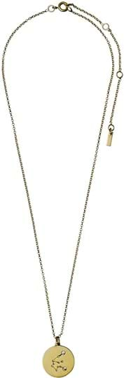 "Pilgrim women's Necklace ""Horoscope"", ref.: 521612011, colour: gold plated, 88% brass, 10% crystal, 2% plating"