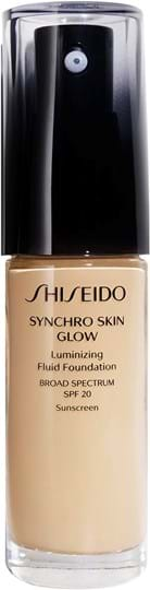 Shiseido Synchro Skin Glow lysende foundation Golden 3 30 ml