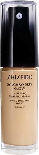 Shiseido Synchro Skin Glow lysende foundation Golden 4 30 ml