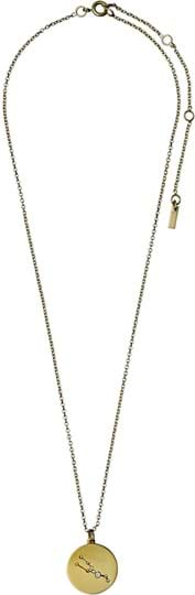 """Pilgrim women's Necklace """"Horoscope"""", ref.: 521612041, colour: gold plated, 88% brass, 10% crystal, 2% plating"""