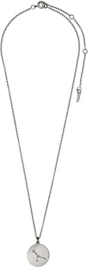"""Pilgrim women's Necklace """"Horoscope"""", ref.: 521616061, colour: silver plated, 88% brass, 10% crystal, 2% plating"""
