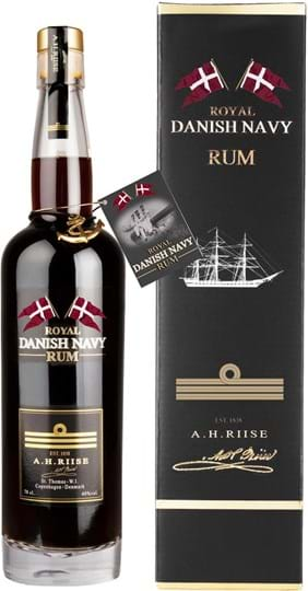 A.H. Riise Royal Danish Navy Rum 40% 0,7L, gaveæske