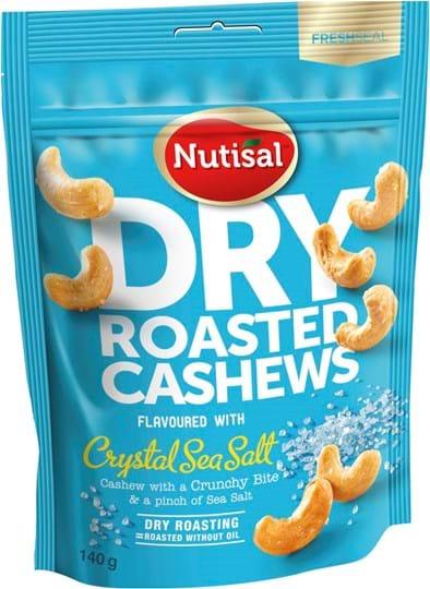 Nutisal Dry Roasted Cashew Sea Salt 140g