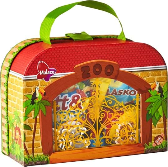 Malaco Zoo suitcase with candy