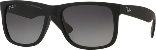 Ray Ban Youngster Men's Sunglasses with a frame made of plastic in black and plastic lenses in polarized grey gradient