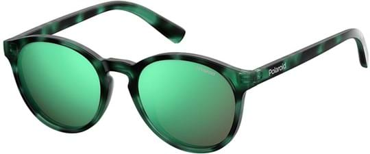 Polaroid Kids Kids' Sunglasses with a frame made of plastic in green and plastic lenses in green