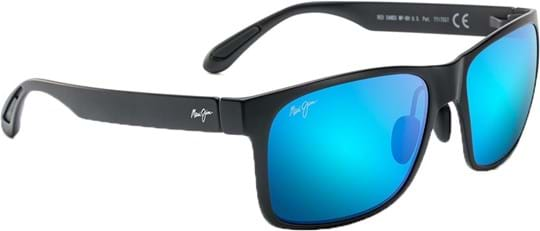 Maui Jim Red Sands Unisex Sunglasses with a frame made of nylon in black and lenses made of plastic in blue