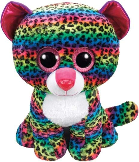 Beanie Boos Large These Large Beanie Boos are extra huggable! The perfect cuddle buddy, all kids (and those young at heart will enjoy). approx height 40cm. Ty Beanie Boos are the cutest collectible plush friends in the world. From Unicorns to puppies and cheeky raccoons, there is a Beanie Boo friend fo