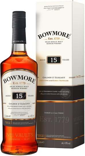 Bowmore 15y 43% 1L gaveæske