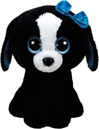Ty, Beanie Boo, tracey, dog black 42cm