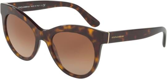 Dolce & Gabbana Women's Sunglasses with a frame made of acetate in brown and plastic lenses in gradient brown