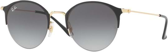 Ray Ban highstreet Unisex Sunglasses with a frame made of metal in gold and plastic lenses in gradient grey