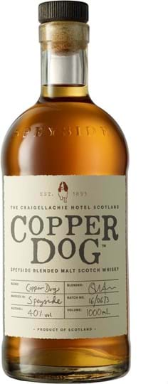 Copper Dog, Speyside, Blended Malt Skotsk whisky 40 % 1L