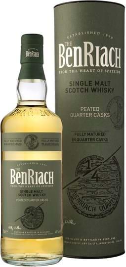 BenRiach Quarter Cask Peated 46% 0,7L gaveæske