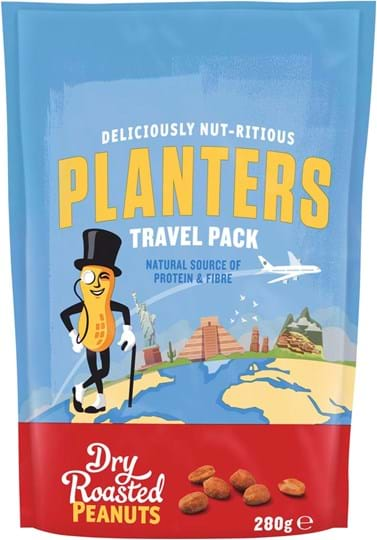 Planters dry roasted peanuts 280g