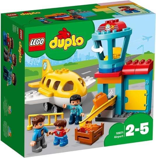 Play out real-life scenarios in LEGO® DUPLO® Town: a recognizable world with modern DUPLO figures. Help your little pilot get ready for take-off at the DUPLO Airport!
