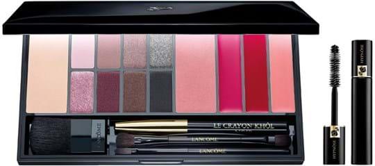 Lancôme Make-Up Set Set cont.: Compact Powder, Eye shadows, Blush, L'Absolu Rouge, Crayon Khôl, Powder brush, Lip brush, Double eye-brush, Hypnôse mascara