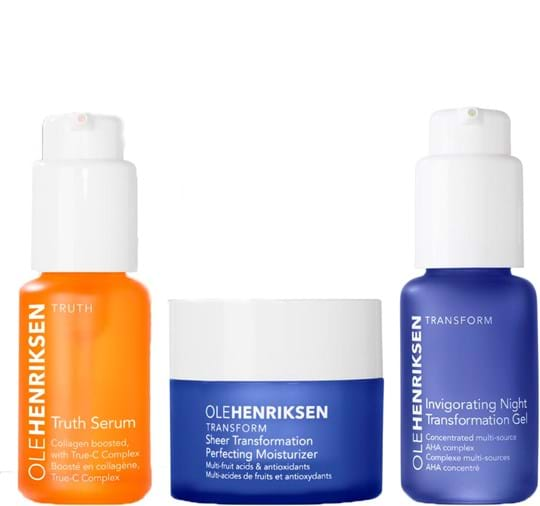 Ole Henriksen Skincare Set 3 Little Wonders Set cont.: Truth Serum Collagen booster 30 ml + Sheer Transformation 30 ml + Invigorating night treatment 30 ml