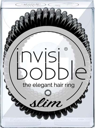 Invisibobble Slim-hårelastik True Black