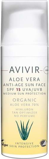 Avivir Sun Aloe Vera Anti-Age-solcreme til ansigtet SPF15 50ml