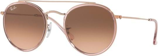 Ray Ban Icons Unisex Sunglasses with a frame made of metal in pink and crystal lenses in gradient rose