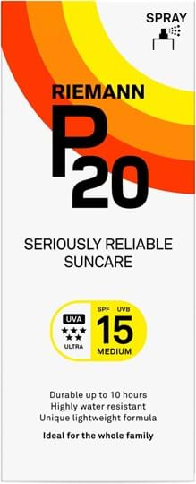Riemann P20 SPF15 Pump Spray 10 Hours Sun protection, very water resistant