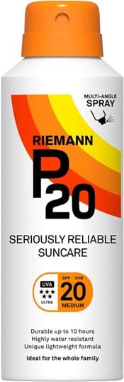 Riemann P20 SPF20 Continous Spray 10 Hours Sun protection, very water resistant
