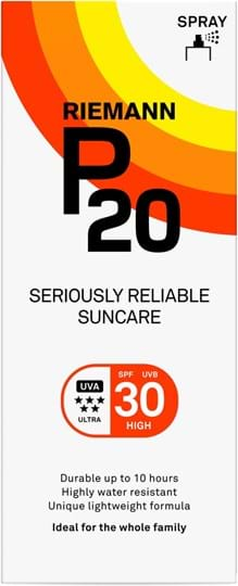 Riemann P20 SPF30 Continous Spray 10 Hours Sun protection, very water resistant