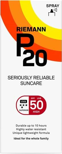 Riemann P20 SPF50 Pump Spray 10 Hours Sun protection, very water resistant