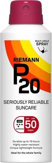 P20 SPF50, spray med nem påføring, 10 timers solbeskyttelse, meget vandfast 150ml