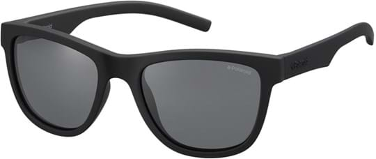 Polaroid Kids Kids' Sunglasses with a frame made of rubber in black and lenses made of plastic in polarized grey