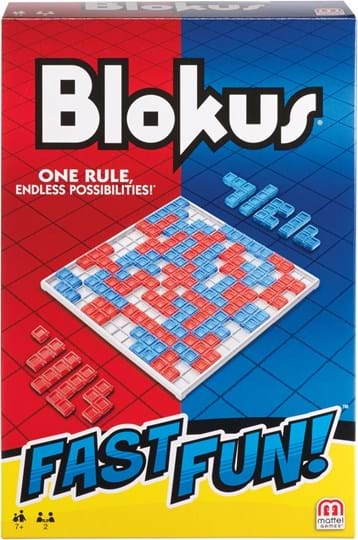 Mattel Games Stake your claim and protect your territory with the Blokus™ game! It takes less than a minute to learn, but offers endless strategy and fun challenges for the whole family.