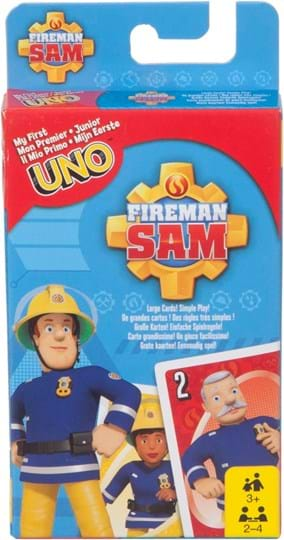 Mattel Games It's the matching game you love, now with child-sized playing cards and featuring delightful Fireman Sam images! Players race to get rid of all their cards by matching a card in their hand with the current card shown on top of the deck.