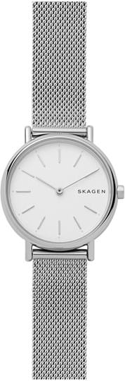 Skagen Signatur Ladies watch, case: stainless steel,silver, strap colour: silver, strap material: stainless steel, dial: white, movement: quartz/2 hand