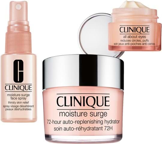 Clinique Ultra Hydration Set cont.: Surge Face Spray 30 ml + All About Eyes 15 ml (GH 71348) + Ms 72H Auto-Rep Hydrator 125 ml