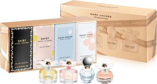 Marc Jacobs Coffret cont: Daisy EdT 4 ml + Daisy Eau So Fresh EdT 4 ml + Daisy Dream EdT 4 ml + Daisy Love EdT 4 ml