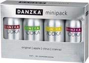 Danzka-minipakke 40%, 4x0,05L, gaveæske