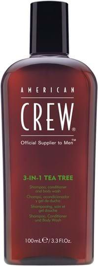 American Crew Hair&BodyCare Tea Tree 3-in-1 (Shampoo, Conditioner and Body Wash) 100 ml