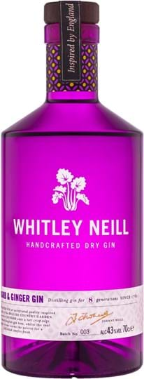 Whitley Neill Rhubarb & Ginger Gin 43 % 1L