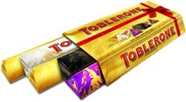 Toblerone Variety Pack 5 x 100g 1 x Fruit, 1 x Dark, 1 x White, 2 x Milk