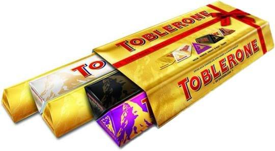 Toblerone Variety Pack 5 x 100g 1 x Fruit, 1 x Dark, 1 x White, 2 x Milk