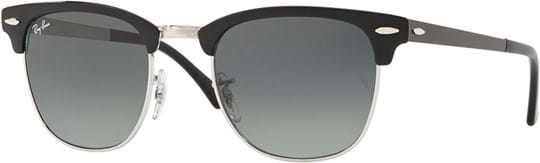 Ray Ban Unisex Sunglasses with a frame made of metal in light grey and lenses made of plastic in light grey