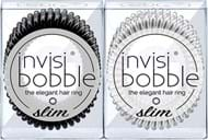 Invisibobble Slim Duo True Black & Crystal Clear