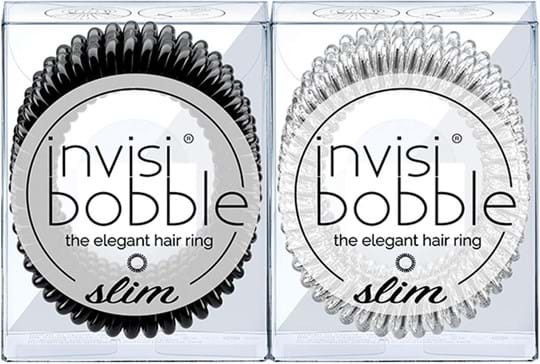 Invisibobble Slim-duo True Black & Crystal Clear