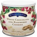 Kelsen Royal Dansk Globe i dåse – hvid chokolade og hindbær 250g