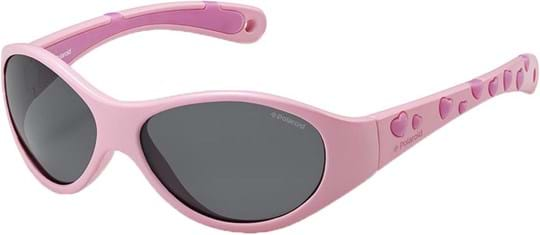Polaroid Kids Boys' Sunglasses with a frame made of syntethic in pink and lenses made of triacetate in polarized grey