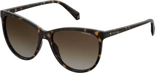 Polaroid Women's Sunglasses with a frame made of polycarbonate in brown and lenses made of triacetate in gradient, polarized brown
