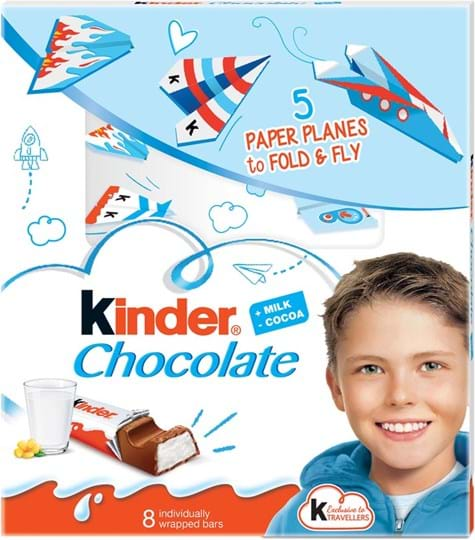 Fin Kinder-mælkechokolade med mælkefyld 100g