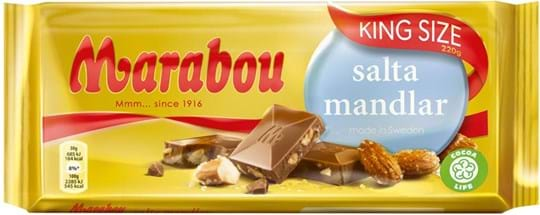 Marabou Salta Mandlar chocolate bar